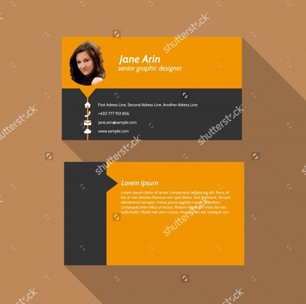 Modern simple light business card