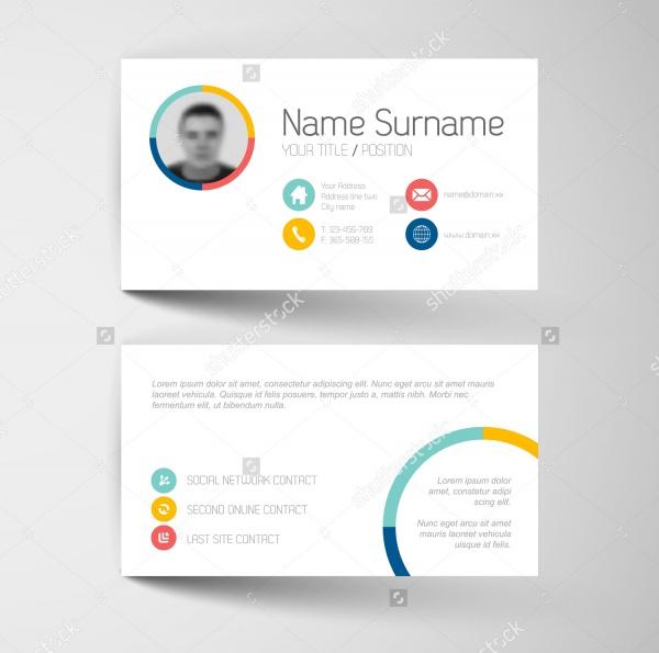 modern simple light business card1
