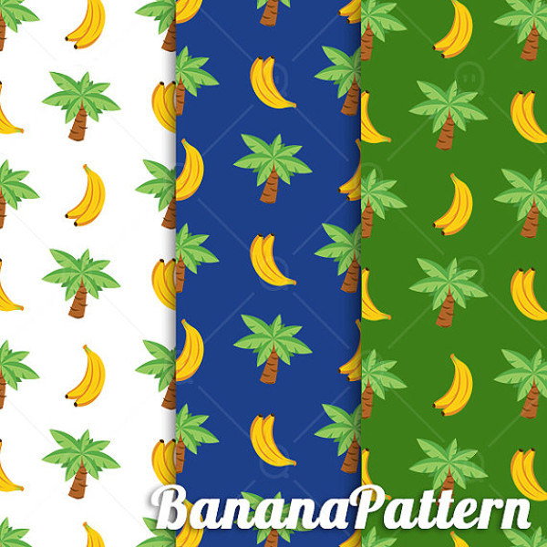 Monkey Banana Tropical Pattern