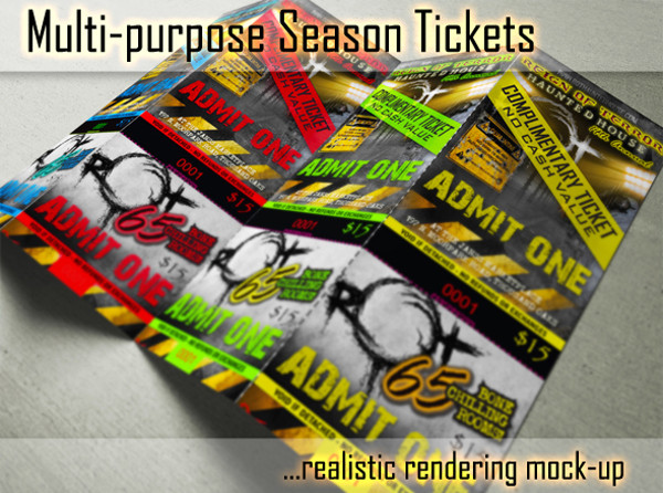 Multipurpose Season TIcket Mockups