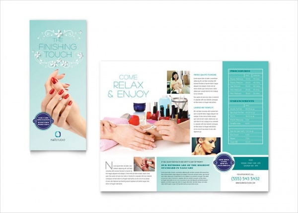Nail Technician Brochure Template