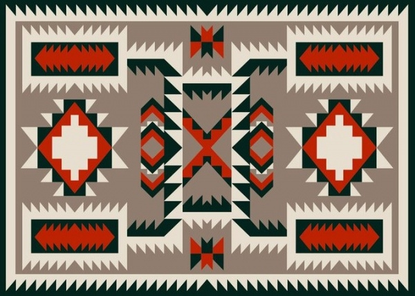 Navajo Pattern Carpet Vector