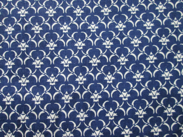 Navy Blue Vintage Fabric Classic pattern