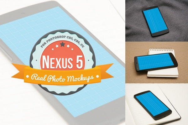 Nexus 5 Product Mockups for Photoshop