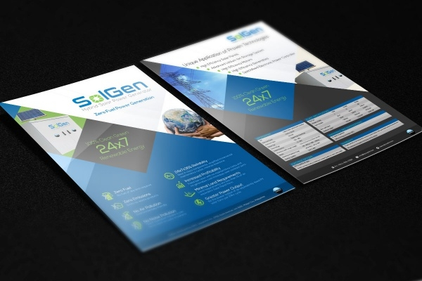 One Page Brochure for SolGen