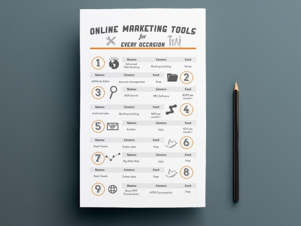 Online Marketing tools Brochure
