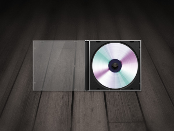 Open Cover cd mockup