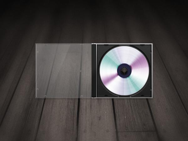Open Cover cd mockup