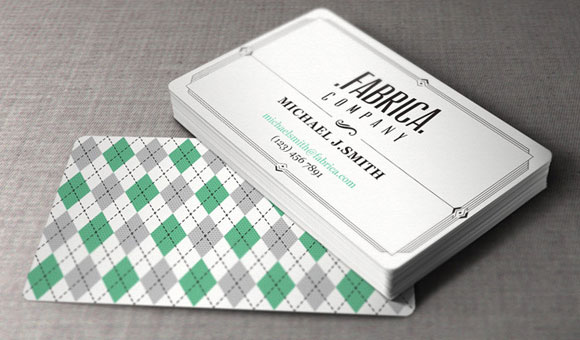 PSD vintage business card