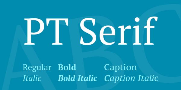 pt serif cyrillic fonts