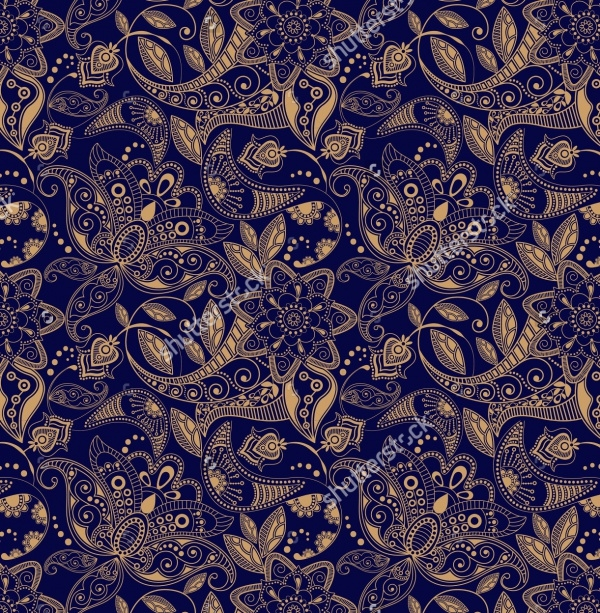 Paisley floral Carpet Pattern