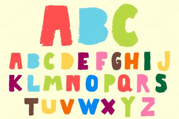 Pastel Typeface Vector Font