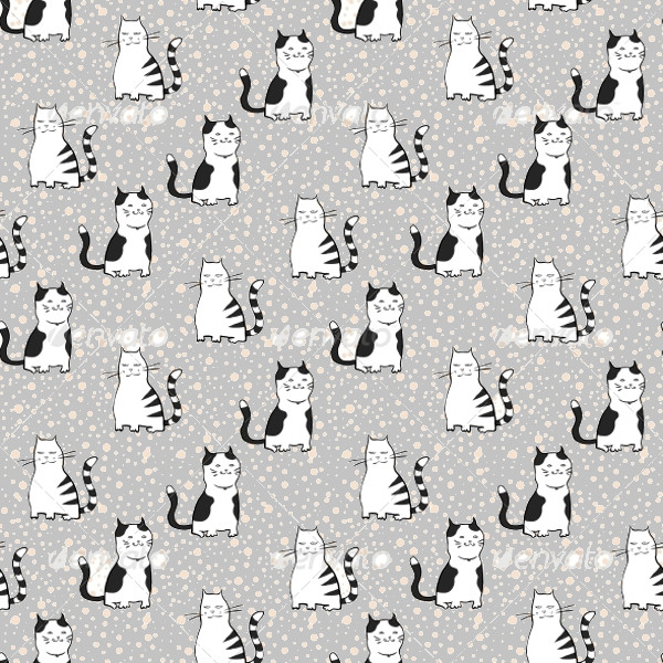 Pattern with Striped Cats.