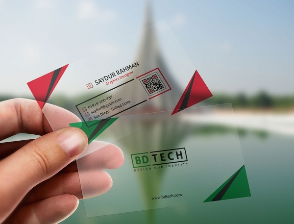 Personal Translucent Plastic business card