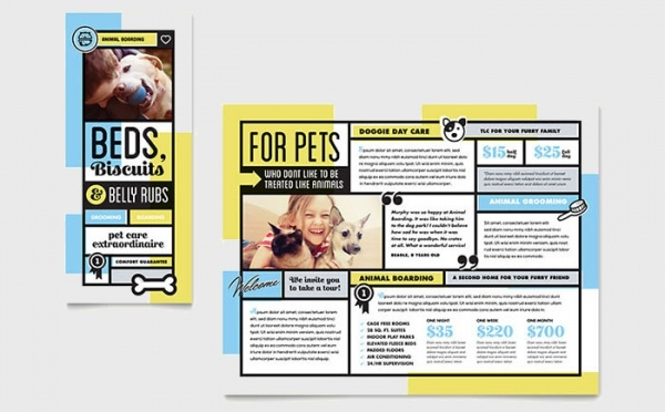 Pet Boarding Brochure