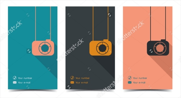 Photographer business card in a flat style