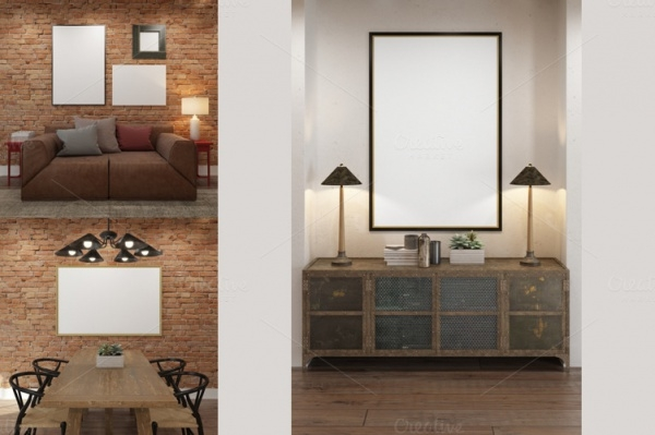 Photorealistic Interior Mockup