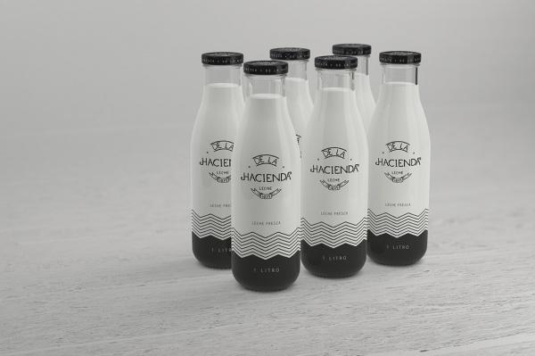 Photorealistic Milk Bottle Mockup
