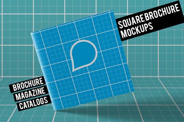 Photoshop Square Brochure Mockups