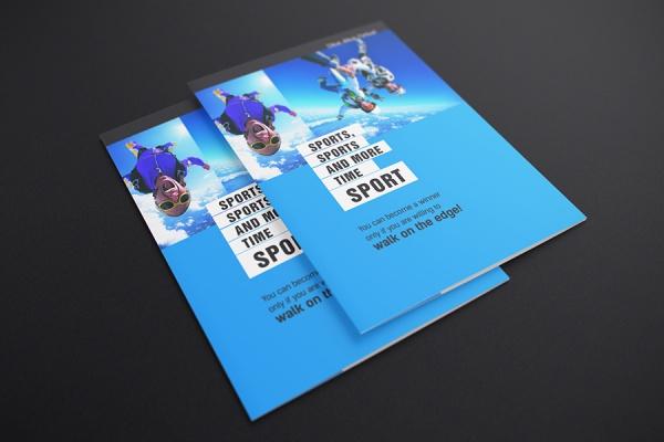Postcard Folded Mockup