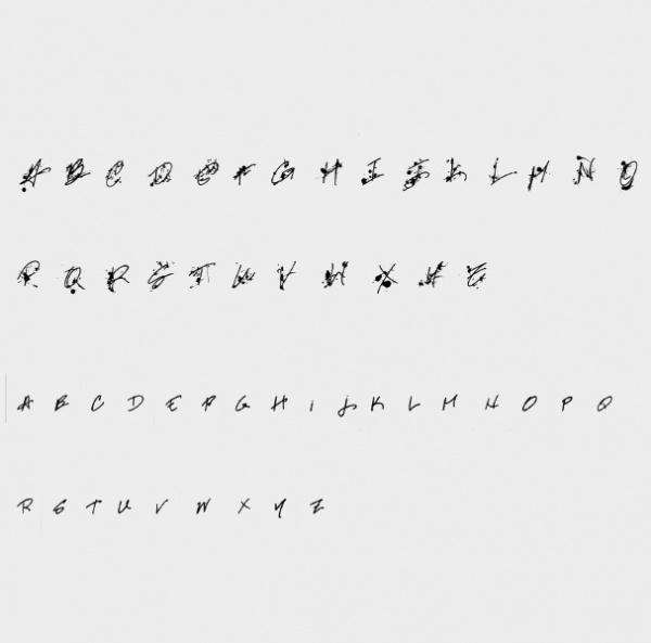 Professional Script Font Character
