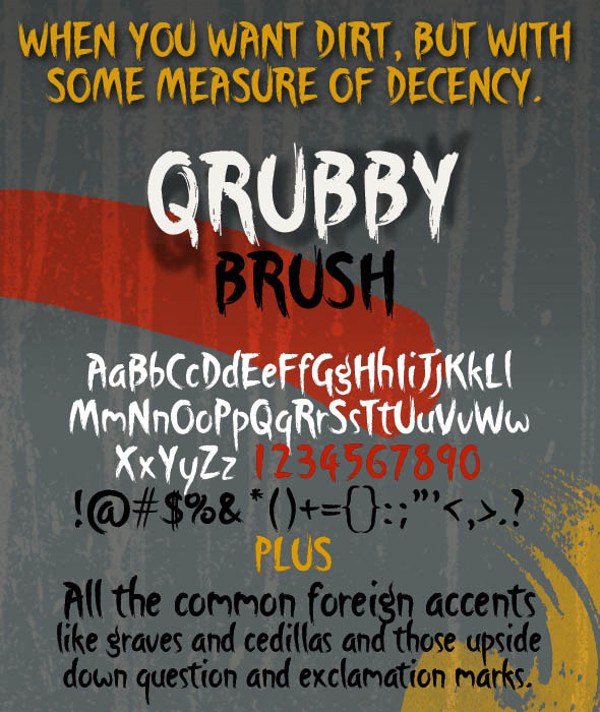 Qrubby Brush Typeface
