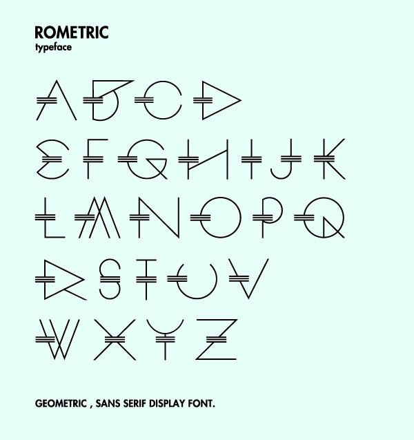 ROMETRIC -geometric font