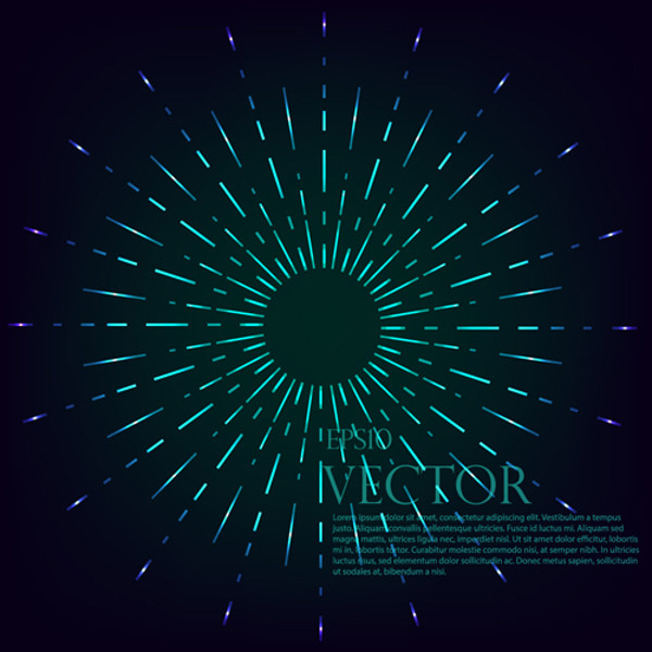Radiation effects circle vector