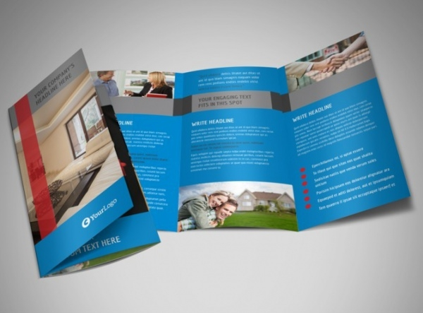 Real Estate Home for Sale Tri-Fold Brochure
