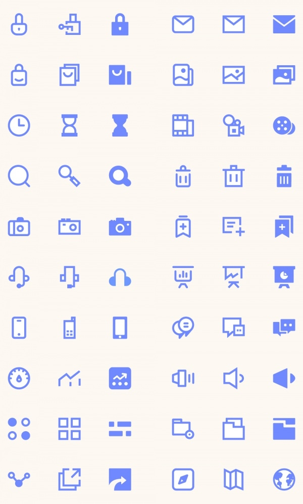 Realistic 100 UI Icons