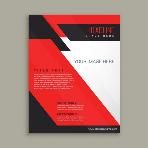 Red corporative brochure