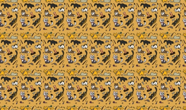Repeating Cat Pattern