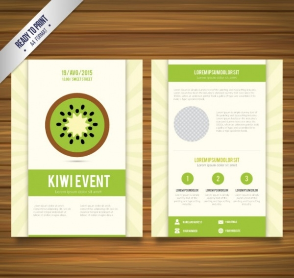 Restaurant Brochure with kiwi slice