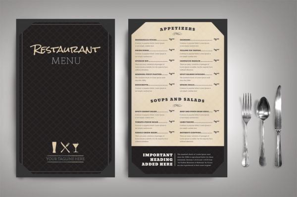 Restaurant Menu Classic Brochure