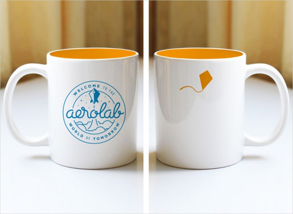 Retro Aeromug Coffee Mockup