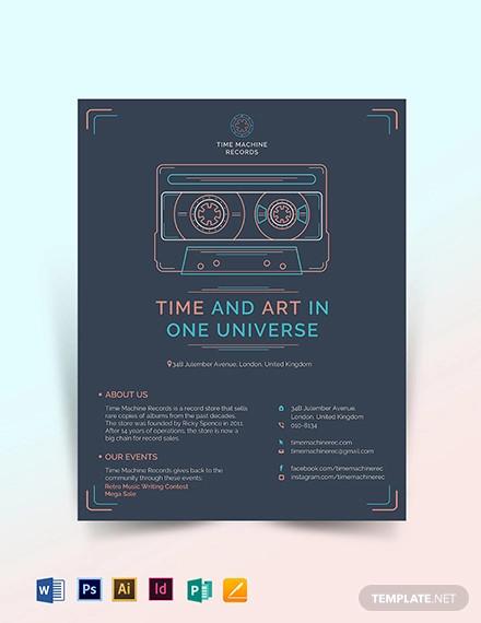 retro business flyer template