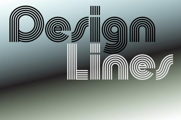 Retro Display Geometric Font