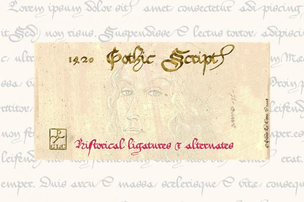 Gothic Script  medieval Font