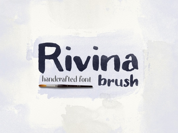 Rivina Handcrafted Brush Font