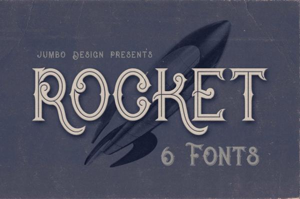 Rocket Vintage Style Font