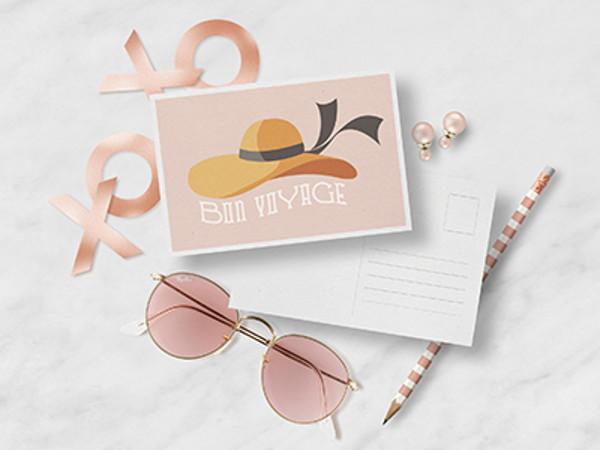 Rose Gold Sunglasses Mockup