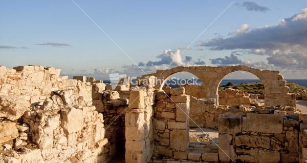 Ruins Of Kourion Overlooking Mediterranean