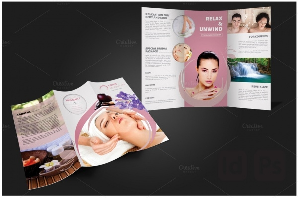 SPA Tri fold Brochure Template