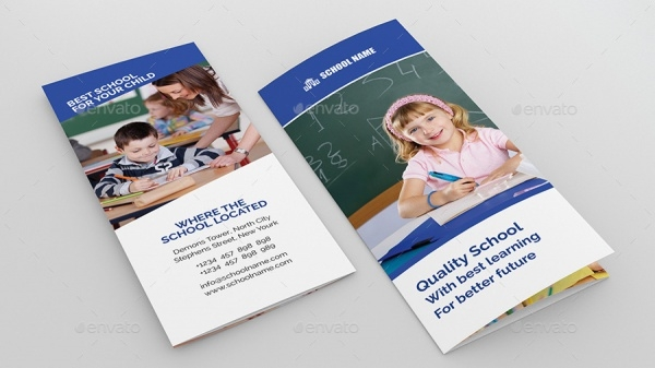 10 school brochure designs freecreatives for Tri fold school brochure template
