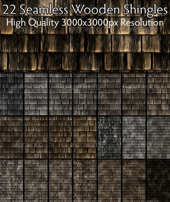 Seamless Wooden Shingles Texture