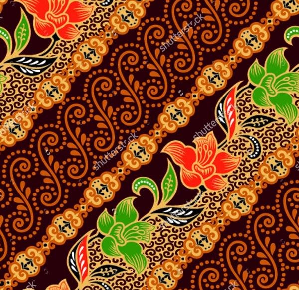 Seamless background beautiful batik