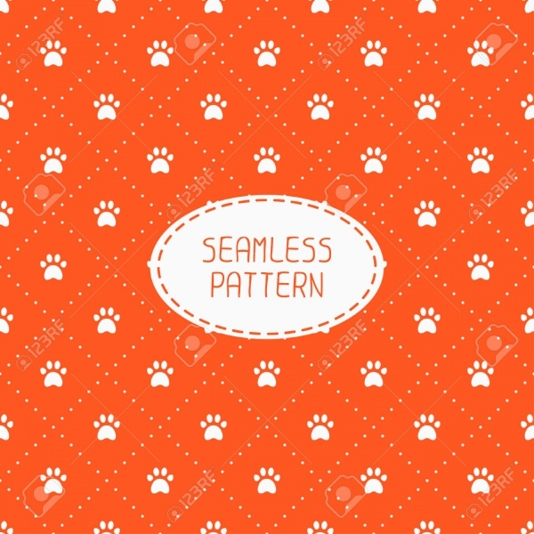 Seamless pattern with animal footprints