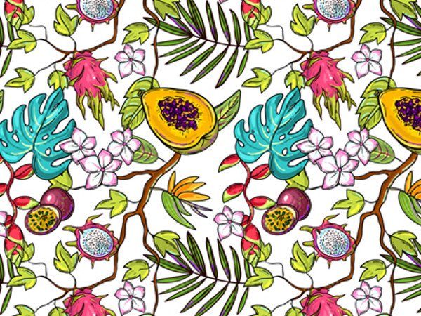 Seamless pattern with tropical elements Pattern