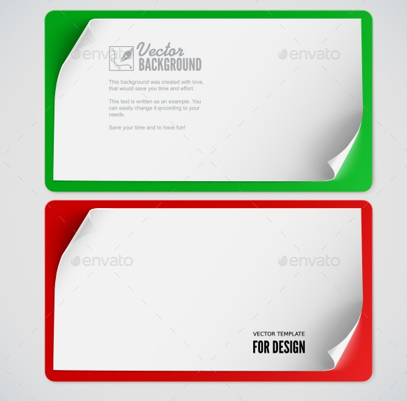 Sheet of Paper Vector Backgrounds