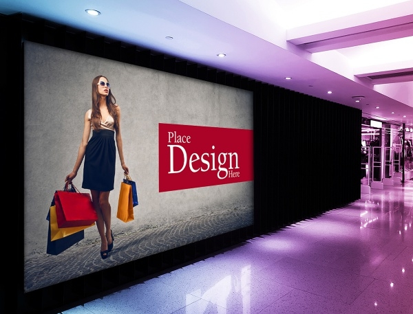 Shopping Mall Billboard Mockup